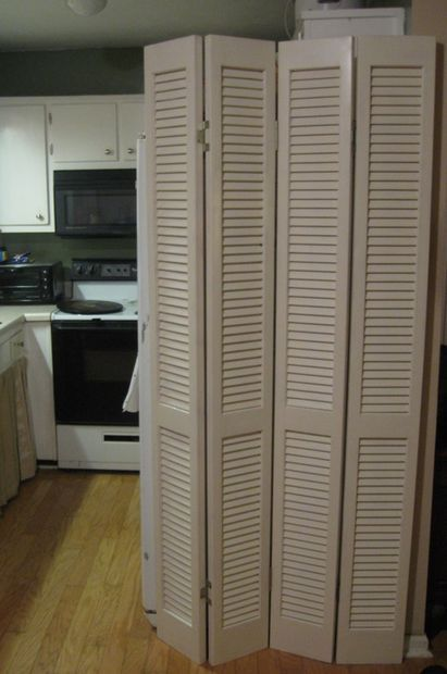 Picture Of Room Divider From Louvered Bi Fold Doors