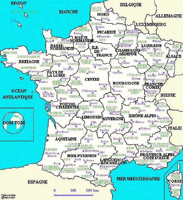 Cours De Civilisation Sur La Geographie De La France Niveau 3eme
