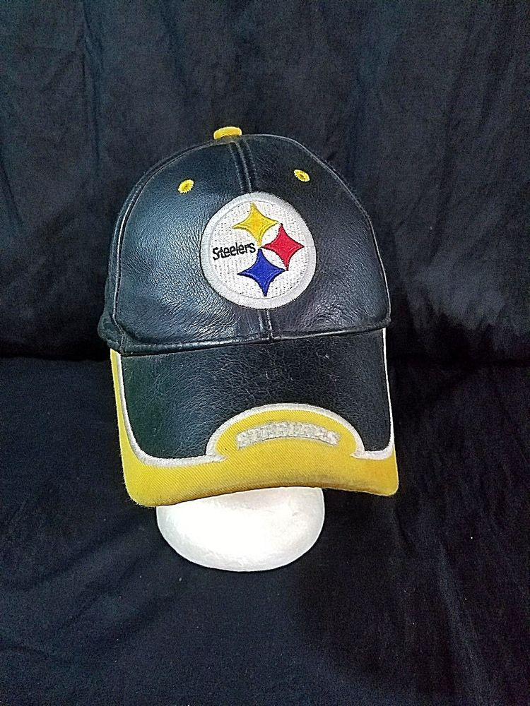 627fec2c1 Pittsburgh Steelers Hat Distressed Leather Strapback NFL Football ...