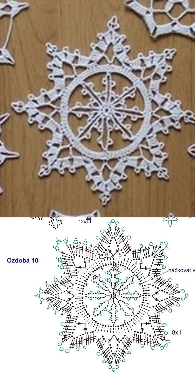 Pin By Inger Christensen On Hklede Ting Crochet Snowflakes