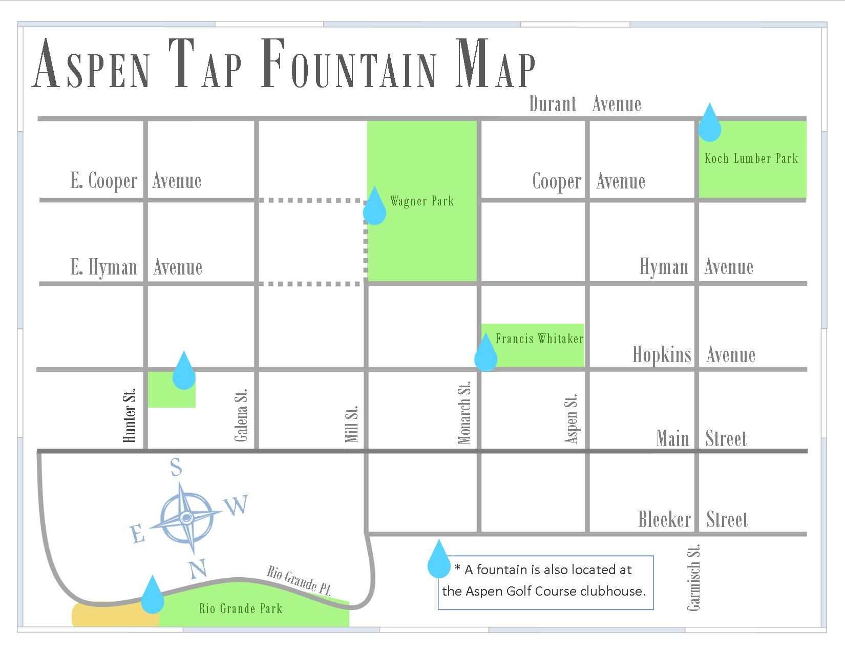 Hydrate If You Re Not Used To Our Elevation Drink Extra Water Aspen Tap Fountain Map Water Department
