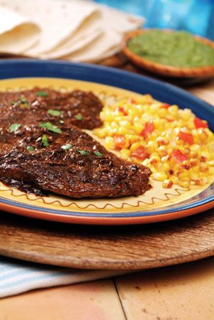Certified Angus Beef Top Sirloin with Ancho Serrano Pepper Sauce