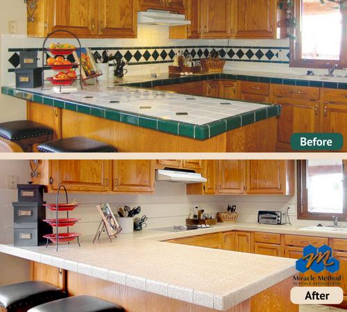 refinish countertops tile countertops