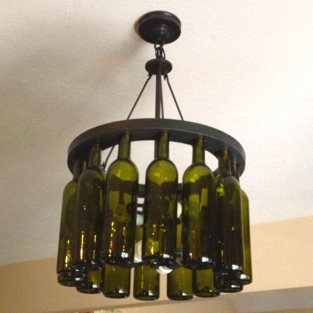 Wine bottle chandelier in my kitchen for the home pinterest wine bottle chandelier in my kitchen aloadofball Gallery