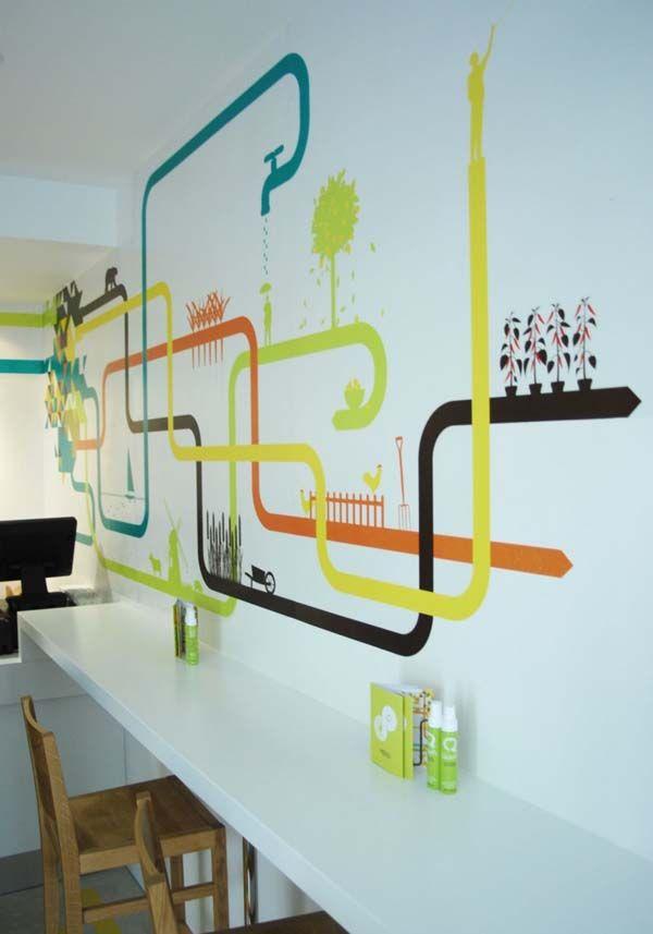 Multicoloured Interior Design For A Mexican Food Restaurant