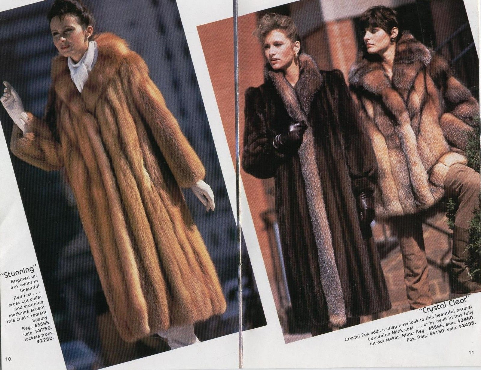 1980s Fur Coat Ad Fashion, How Much Did A Mink Coat Cost In 1980