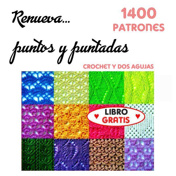 libro con patrones de tejido gratis para descargar | Crochet y Dos ...