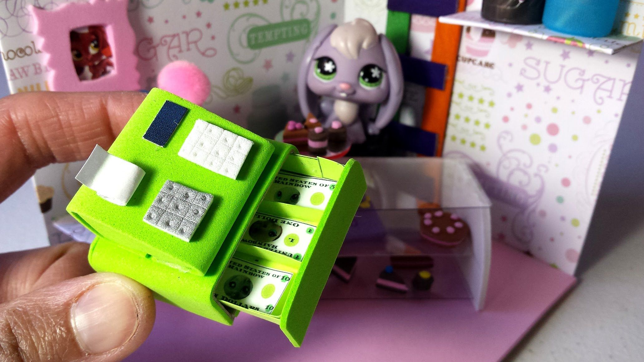 How To Make A Doll Cash Register W Printable Money Lps Doll Diy