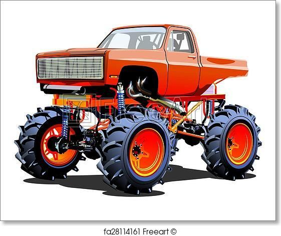 Free Art Print Of Cartoon Monster Truck Monster Truck Art
