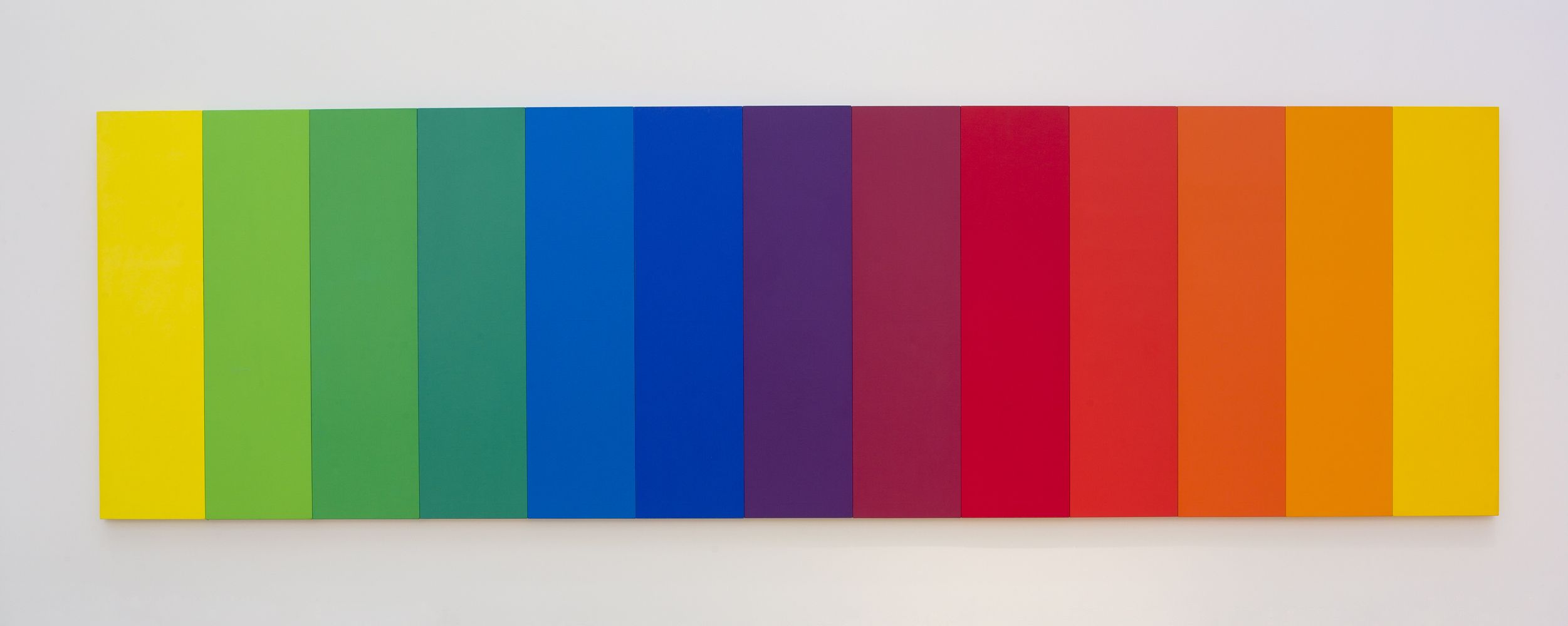 Ellsworth Kelly; Spectrum II, 1966-67; oil on canvas; 80 in. x 22 ft ...