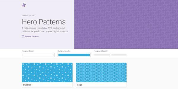 Générez Vos Backgrounds En SVG Facilement Et Gratuitement Avec Hero Mesmerizing Hero Patterns