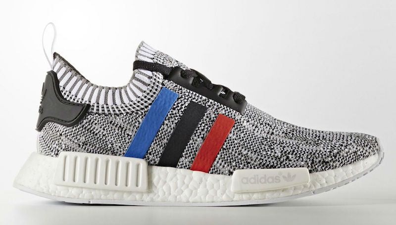Adidas Nmd Primeknit Red White Blue Three Stripes Sneakers Men
