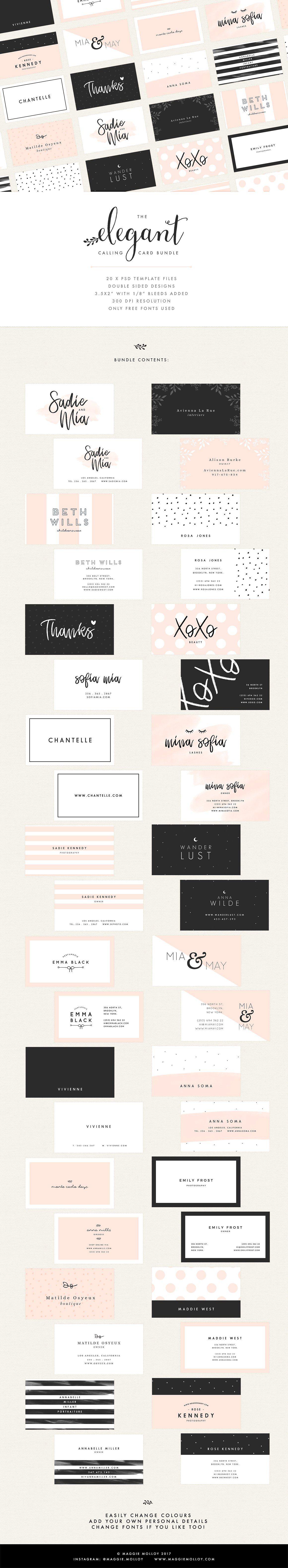 Gorgeous Business Card Templates Business Pinterest Card