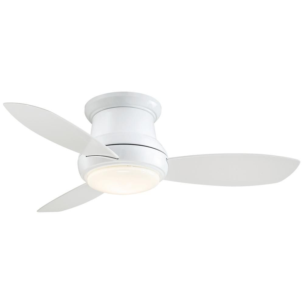 Minka Aire Concept Ii 44 In Integrated Led Indoor White Ceiling Fan With Light With Remote Control F518l Wh The Home Depot Ceiling Fan Flush Mount Ceiling Fan Ceiling Fan With Remote