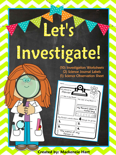 Let s Investigate 10 Investigation Worksheets