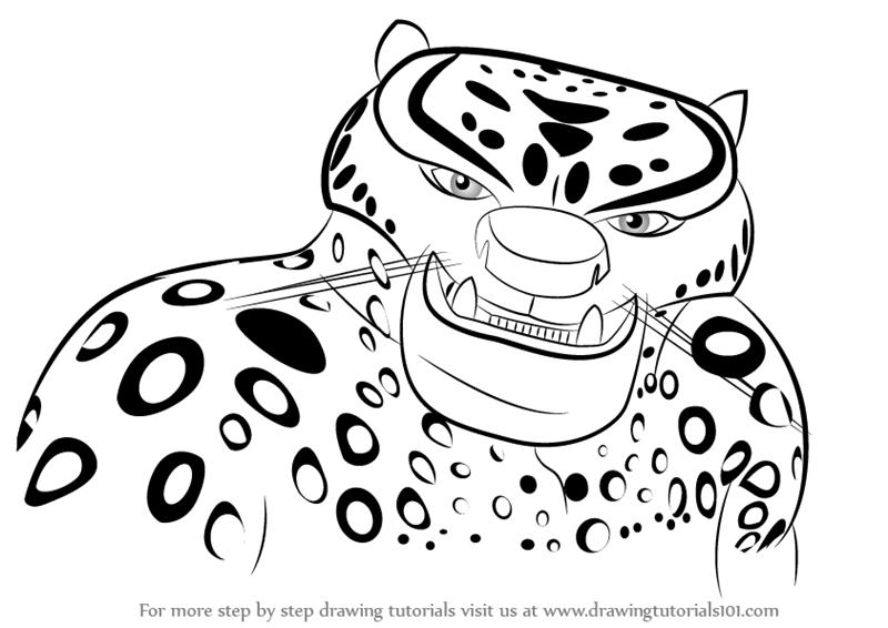 Learn How to Draw Tai Lung from Kung Fu Panda 3 (Kung Fu Panda 3 ...