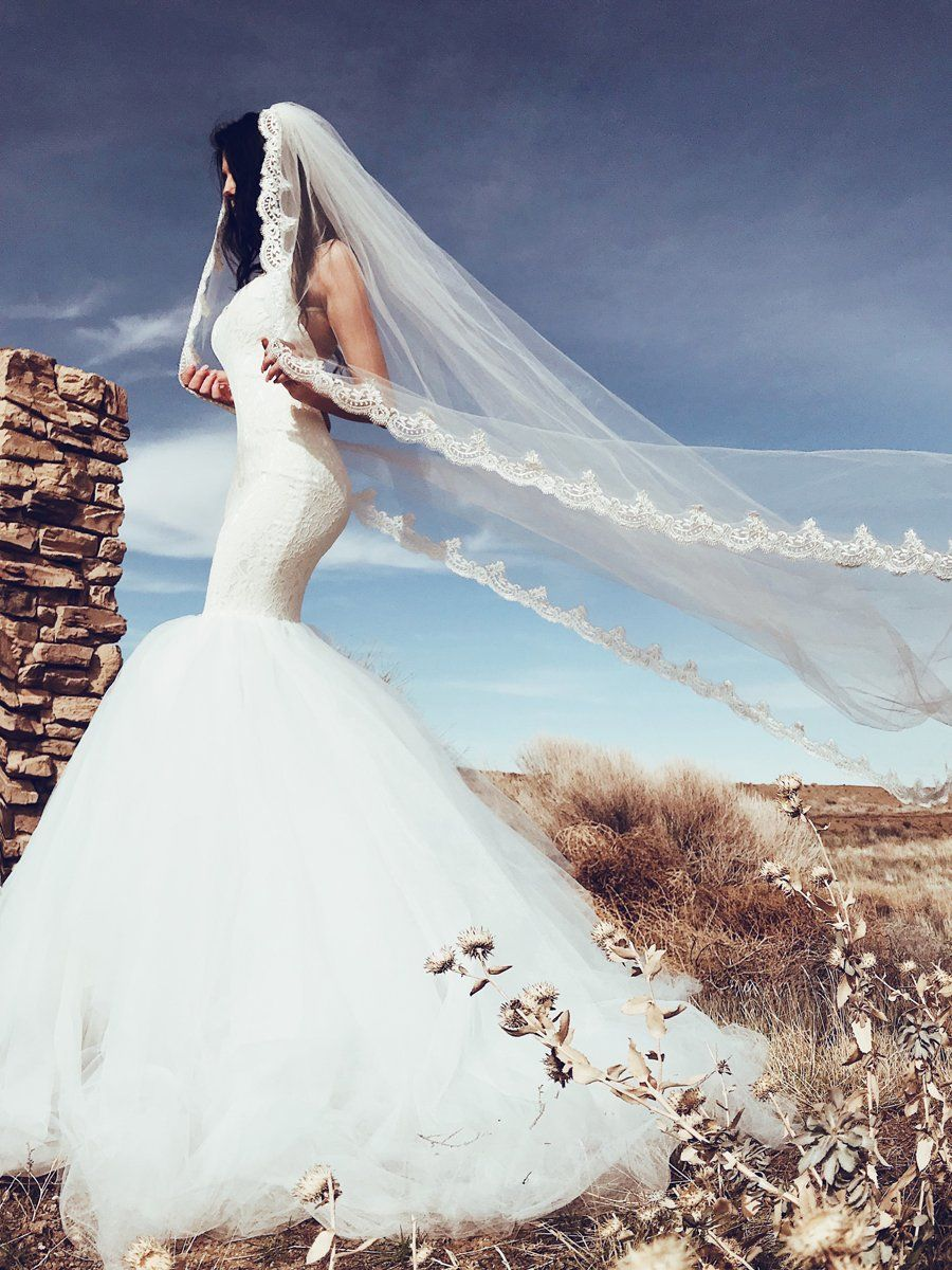Lola   Cathedral train, Tulle skirts and Mermaid wedding dresses
