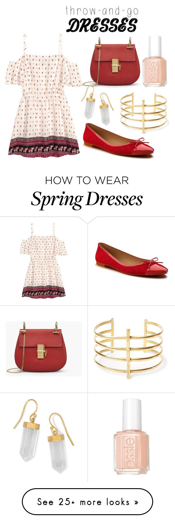 """""""Throw and go dress"""" by pbamberry on Polyvore featuring H&M, Shoes of Prey, BillyTheTree, BauXo and Essie"""