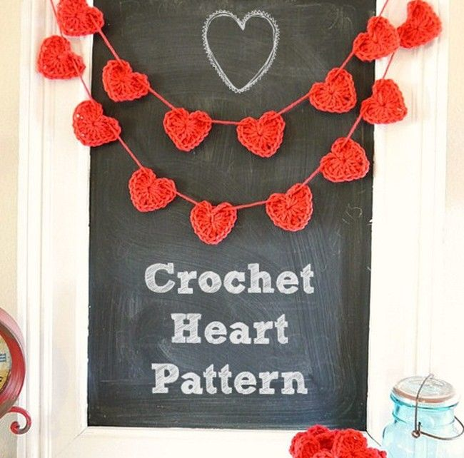 I love these crochet hearts. They are perfect to make for valentines day. You could hang them as bunting or scatter them around your home for decoration to spread the love.