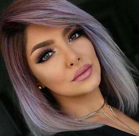 Grey And Red Hair Silver Purple Hair Purple Hair Hair Styles