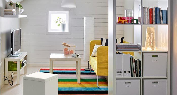 Kallax Wohnzimmer ~ Raumteiler in weiß für das in lila gestrichene wohnzimmer kallax