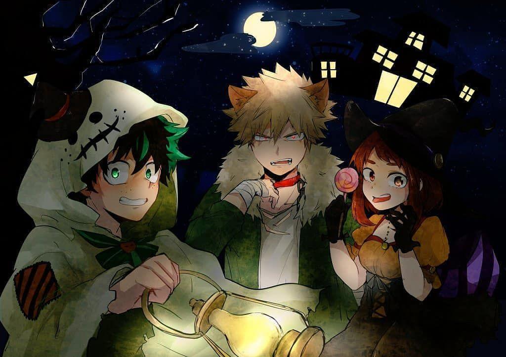 Happy Halloween Everyone Creditѕ To Noaaa723 On Twitter Anime Halloween Anime Hero