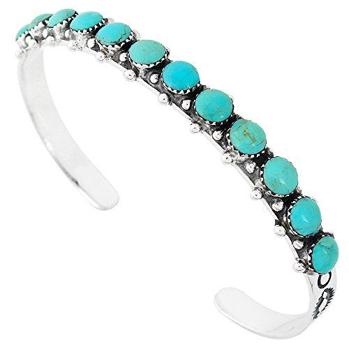 925 Sterling Silver Bracelet with Genuine Turquoise -- See this awesome image @ http://www.amazon.com/gp/product/B00YTADJ8C/?tag=ilikeboutique09-20&ef=300716004049