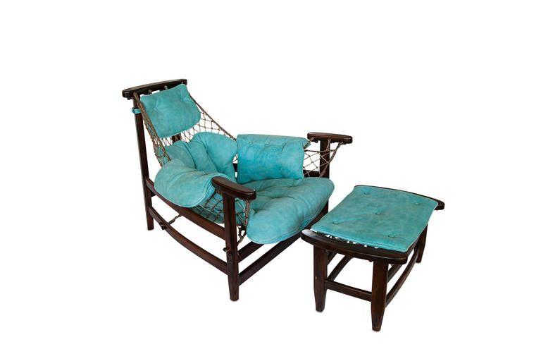 Love Seats Stoelen.Jean Gillon Jangada Brazilian Jacaranda Armchair And Ottoman Image 2