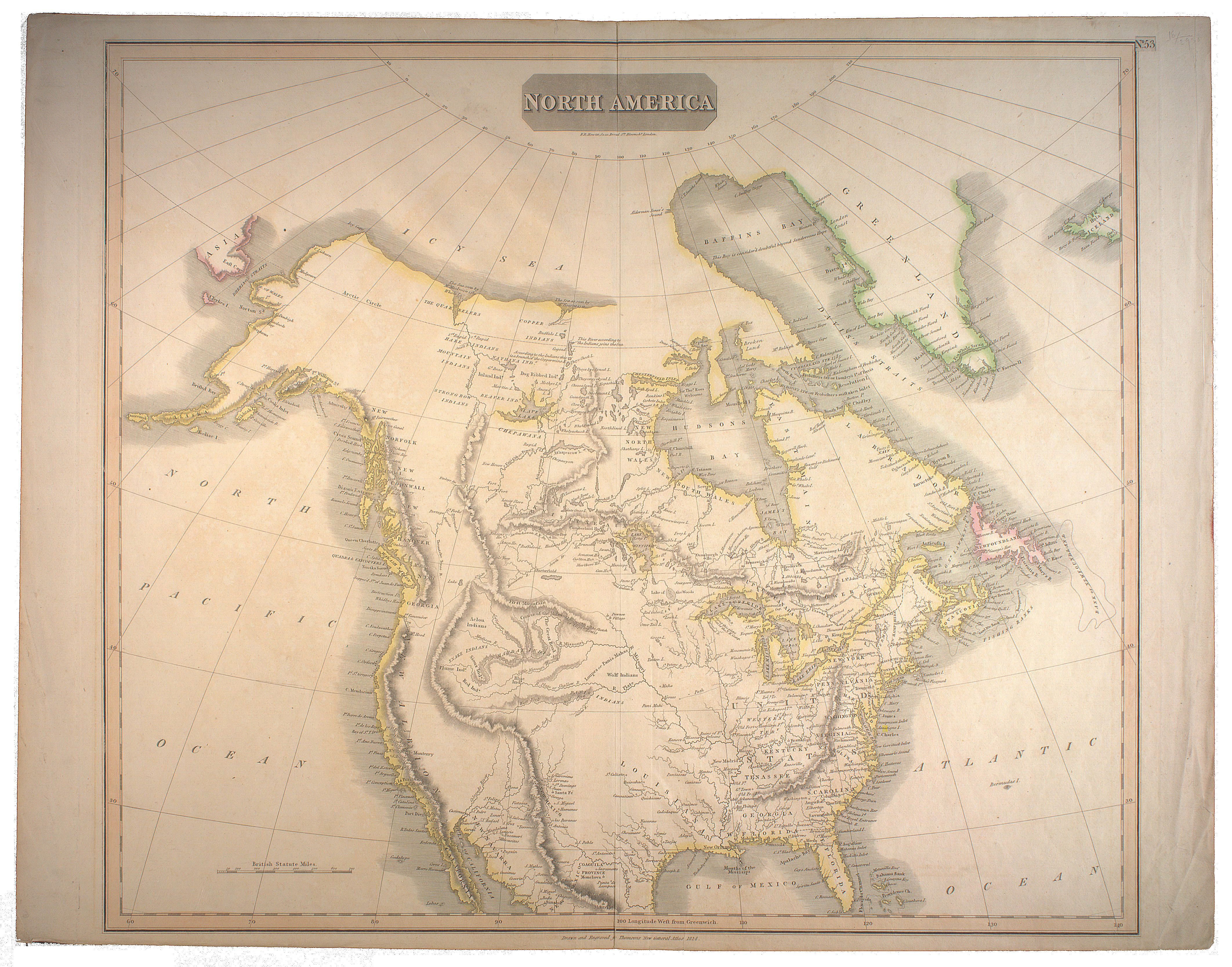 1814 - North America - drawn and engraved for John Thomsons New ...