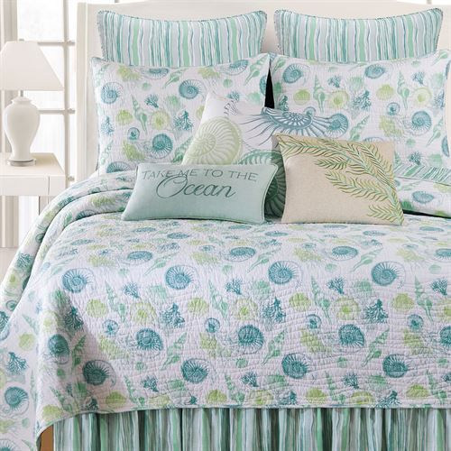 St Augustine Coastal Seashell Quilt Bedding Beach House Room