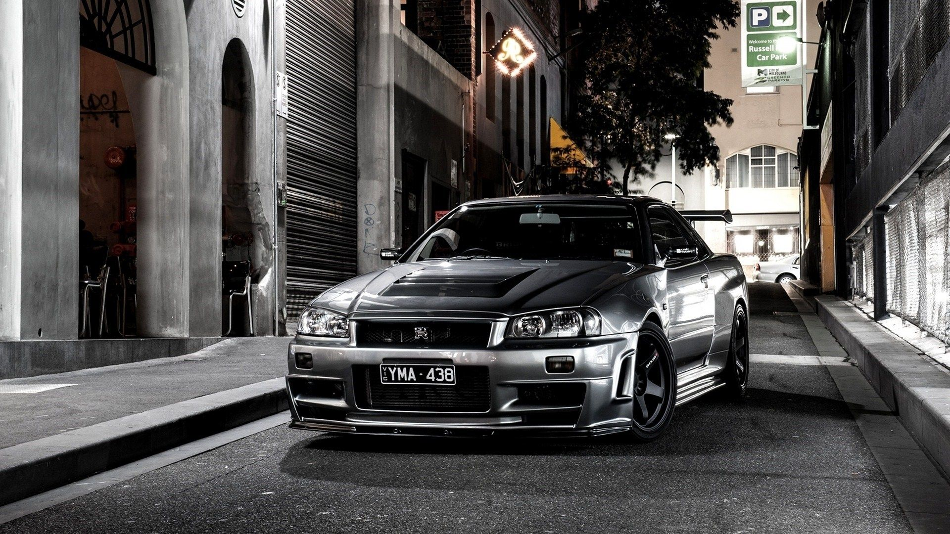 Image For Nissan Skyline R34 Japan Car City Street Night Wallpaper