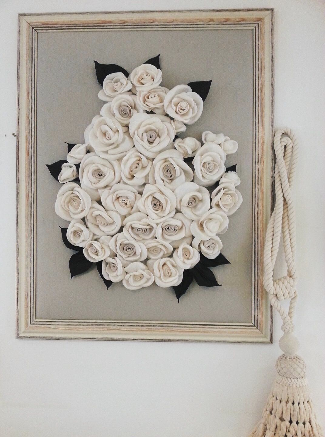 3d Wall Hanging Masive Frame Textile Flowers Wall Decorations
