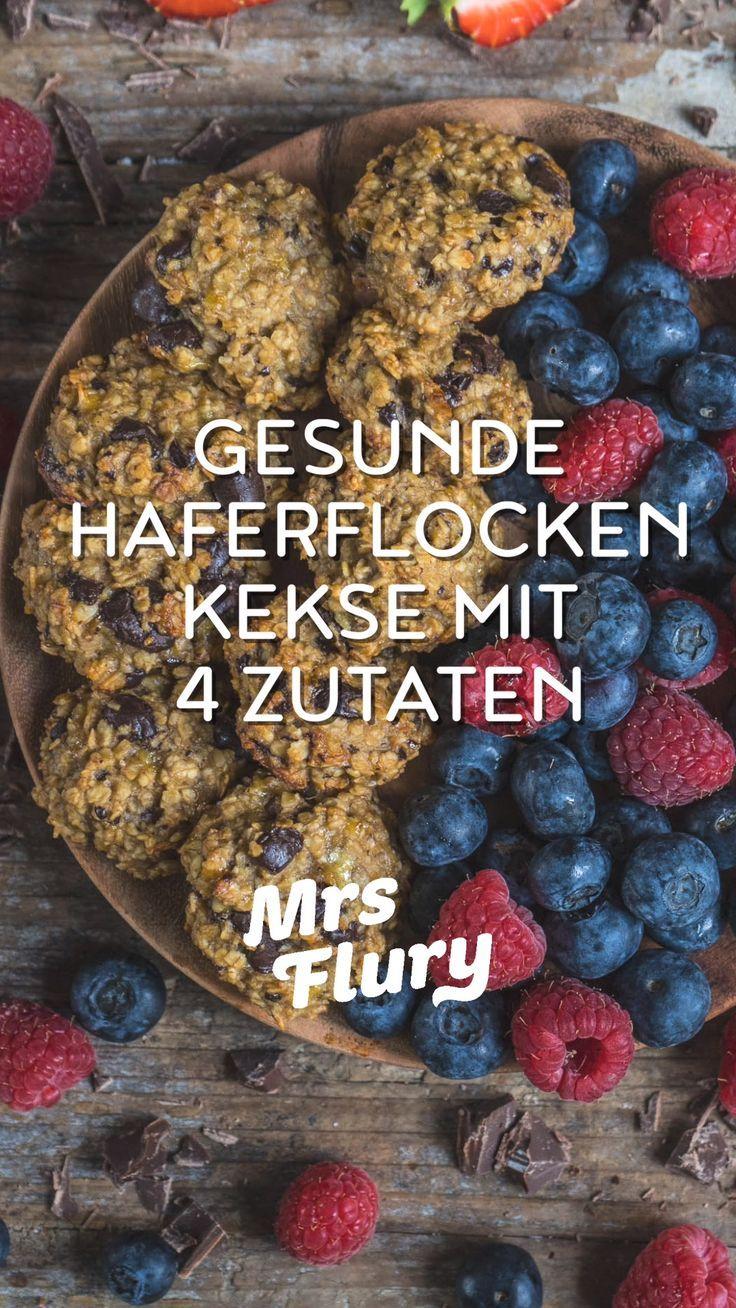 Gesunde Haferflocken Kekse ohne Zucker - Mrs Flury - gesund essen & leben