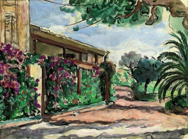 Henri Lebasque (France 1865-1937) Le jardin au Cannet (1920) oil on canvas 27.5 x 36.6cm