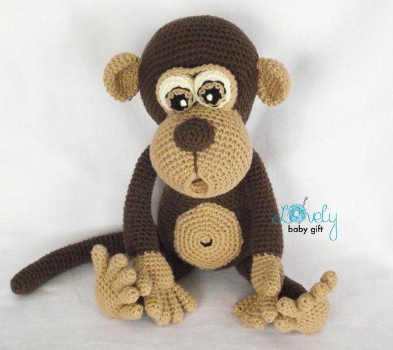 Amigurumi Pattern scimmia animale Crochet di LovelyBabyGift ...
