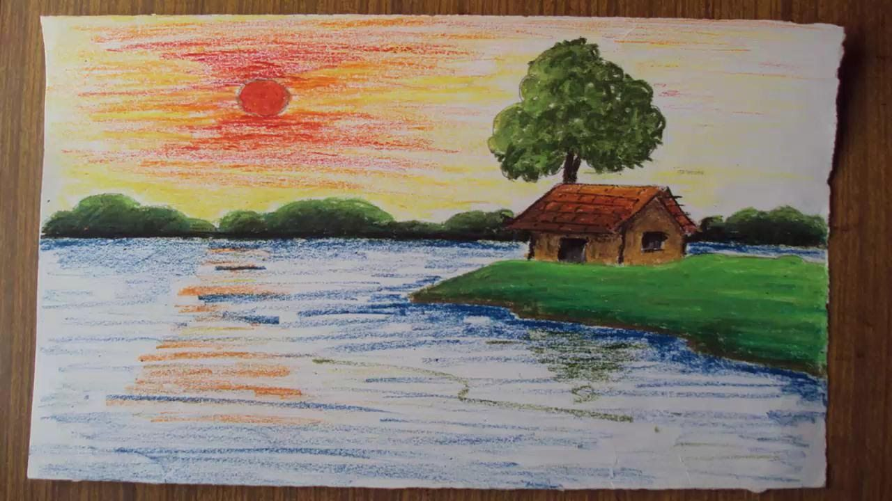 Nature Drawing Color Easy Google Search Easy Landscape Paintings Landscape Paintings Landscape