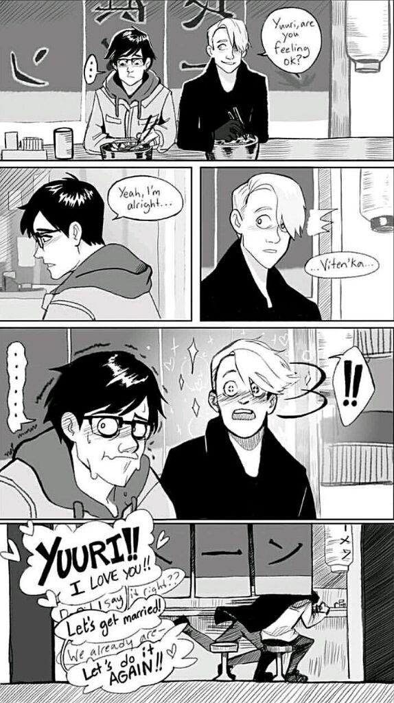 """Viktuuri AU  """"I'll stop wearing black when they invent a darker colou… #fanfiction Fanfiction #amreading #books #wattpad"""