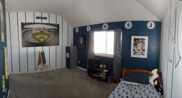 yankees bedroom - i could totally see this in nursery formi
