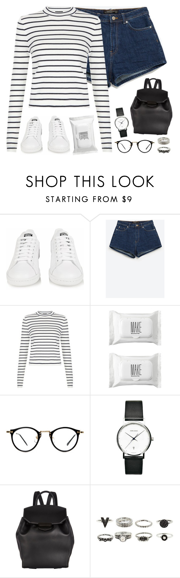 """""""Love For That//Mura Masa"""" by thelonelyheartsclub ❤ liked on Polyvore featuring adidas, Zara, Make, Georg Jensen, Alexander Wang, women's clothing, women, female, woman and misses"""