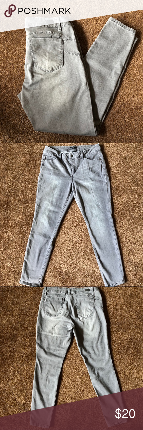Miss Poured In Blue Gray Skinny Jeans Size 12 Brand Miss Poured In Blue Style Skinny Color Gray Size 12 Condi Grey Skinny Jeans Blue Fashion Skinny Jeans