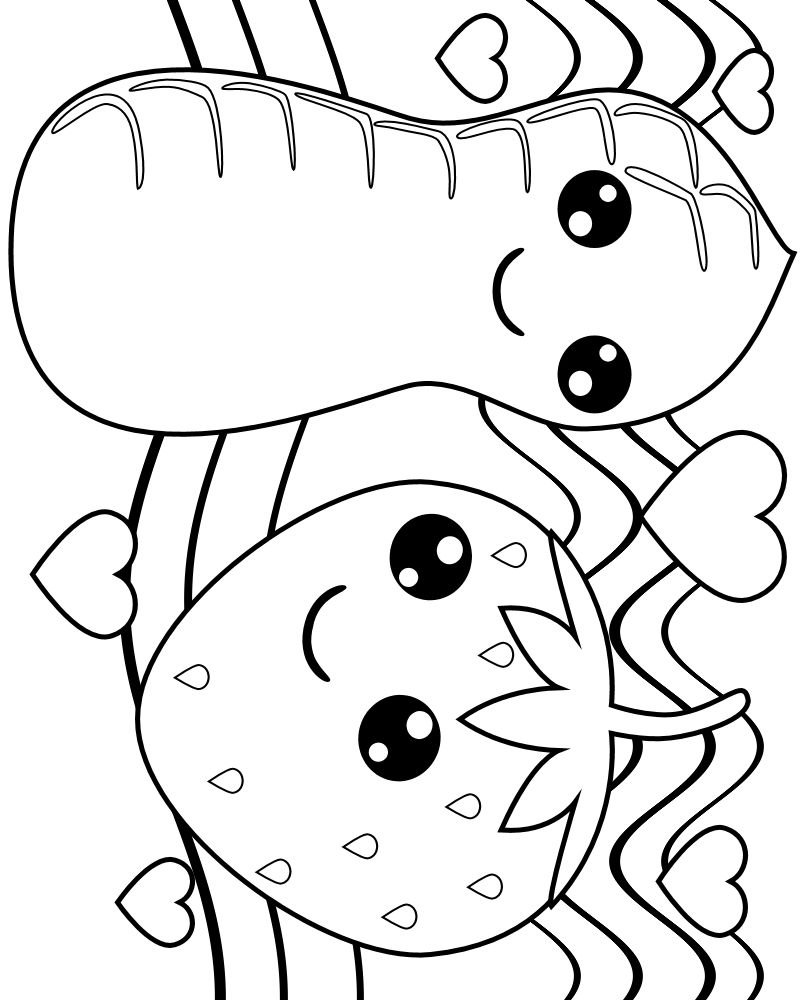 Kawaii coloring pages - coloringtop.com | Coloring Pages | Pinterest ...