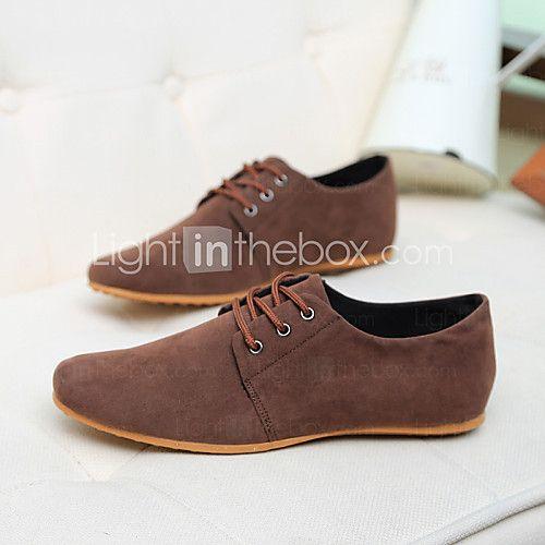 7ff52308c147f Hombre Zapatos Ante Sintético Primavera Verano Otoño Confort Oxfords Con  Cordón para Casual Azul marino Negro Marrón