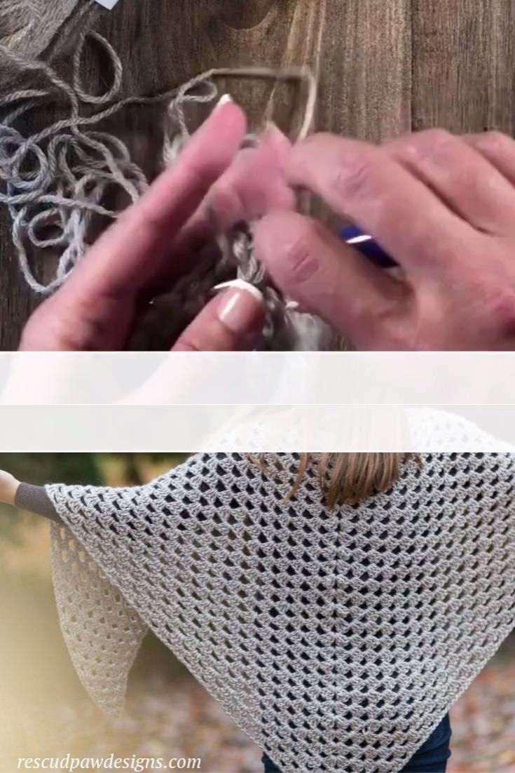 Free Crochet Granny Triangle Shawl Pattern