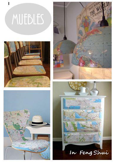 Decorar con mapas en muebles dado que los mapas nos for Lo mejor en muebles para el hogar