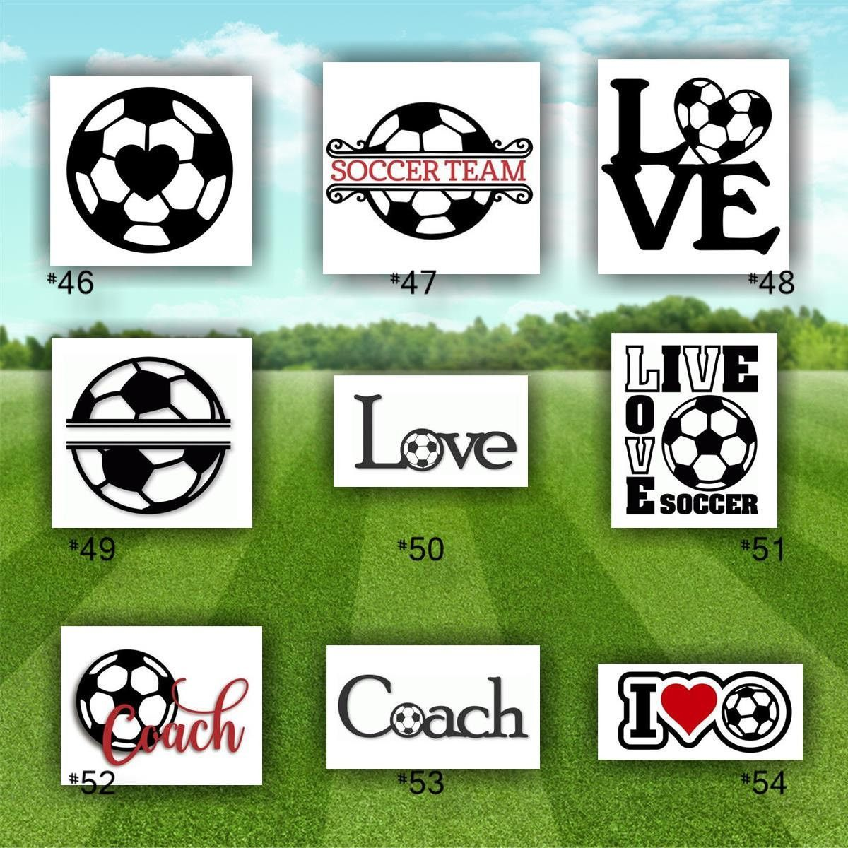 SOCCER Vinyl Decals  Custom Car Window Stickers Car - Soccer custom vinyl decals for car windows