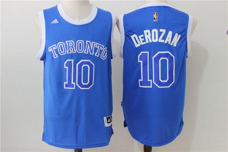 d17956adc0b Toronto Raptors #10 DeMar DeRozan Blue Stitched 2016 NBA Adidas Revolution  30 Swingman Jersey