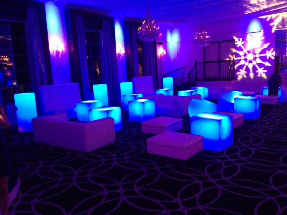 Illuminated Table Rentals White Lounge Furniture Rentals