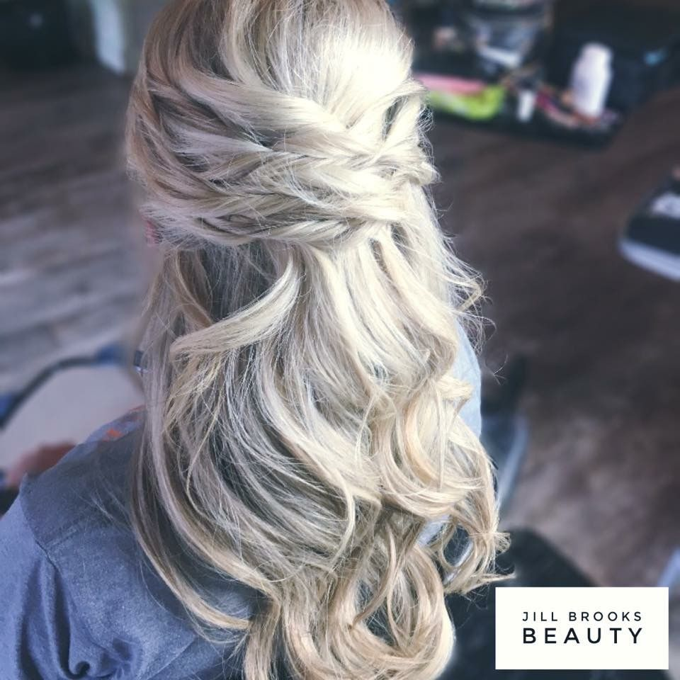Jill brooks beauty bridal hair trial half up styling for a
