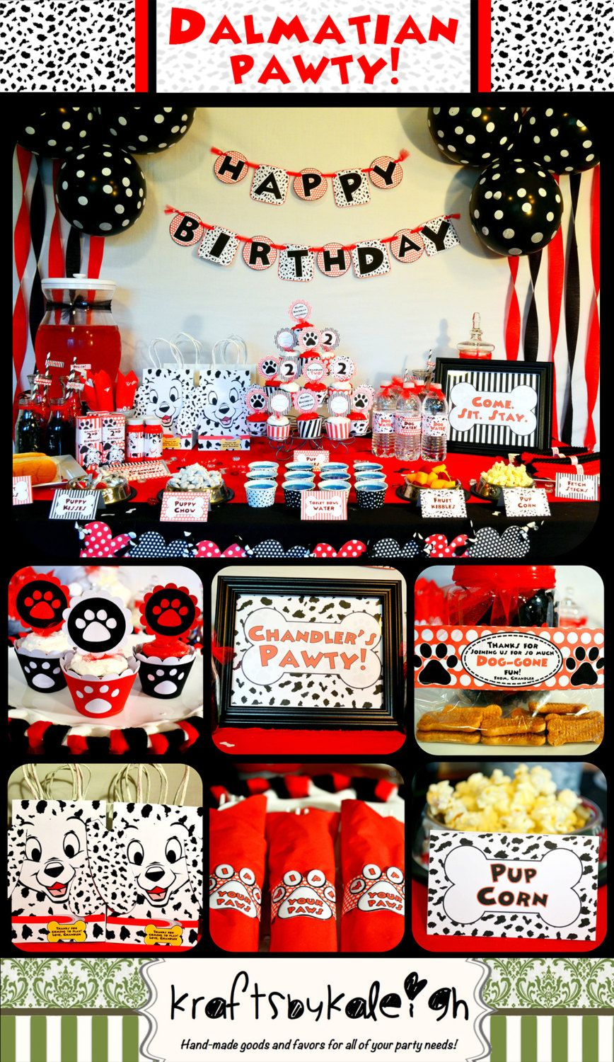 Disney 101 Dalmatian Birthday Party Package By Kraftsbykaleigh Dalmatian Party Fun Birthday Party 101 Dalmations Party