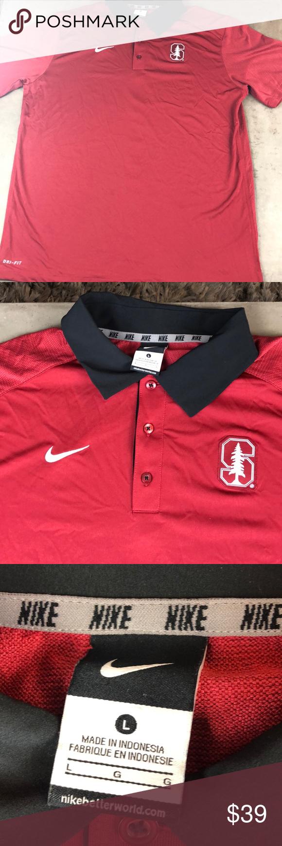 Nike Dri Fit Stanford University Golf Polo Shirt Nike Dri Fit Golf